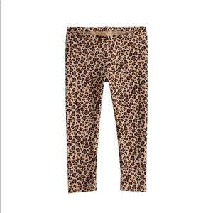 Toddler Girl Jumping Beans Cheetah Brown Leggings